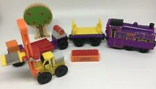 Thomas Wooden Railway Culdee & Orchard Cars Forklift APPLE SCENT Train Set 6 Lot