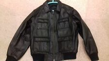 Boys M&S LEATHER JACKET 7-8 years bomber/  biker Style