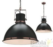NEW MERCATOR TONIC LARGE CEILING PENDANT LIGHT BLACK METAL WITH COPPER MG9031L
