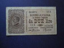 BANCONOTA LIRE 2 decreto 14 MARZO 1920 SERIE 111