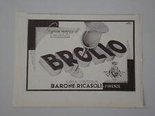 advertising Pubblicità 1935 VINO CHIANTI BROLIO - BARONE RICASOLI , FIRENZE