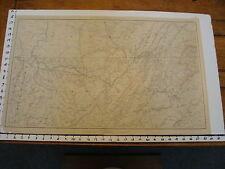 "1891 Civil War Map 18"" X 29"": Topographical Plate CXLIX: ATLANTA,CHATTANOOGA etc"