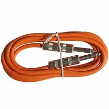 Orange 6 ft foot 1/4 stereo TRS balanced shielded PA EQ mixer patch cable cord