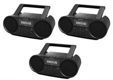 Set of 3 Sony ZSRS60BT CD Boomboxes W/ Bluetooth NFC AM/FM USB Headphone/Line-in