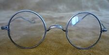 Vintage Spectacles Eye Glasses Silver Frame Round lens c1900 -1920