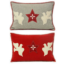 Paoletti Nordica Doves Christmas Cushion Cover, 35 x 50 Cm
