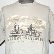 Harley Davidson Ivory XL Men Shirt Wolf Spirit Clouds Motorcycle Biker McCoy's
