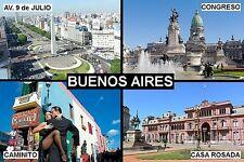 SOUVENIR FRIDGE MAGNET of BUENOS AIRES ARGENTINA