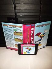 Woody Woodpeckers Frustrated Vacation Video Game for Sega Genesis! Cart & Box