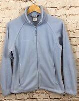 Columbia fleece jacket womens medium benton springs zip up light blue coat N3