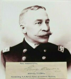 Admiral Of The Navy George Dewey Battle Of Manila Hero Signed Autograph