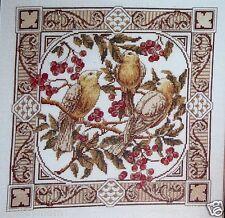 BIRDS & BERRIES~Cross Stitch Pattern~Marie Barber~Autumn Fall Winter