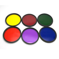 25 27-58 62 77 82mm Camera Green Orange Red Purple Yellow Blue Full Color Filter