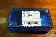 1591BTBU Clear Blue Polycarbonate Hammond Enclosure For Elecronics FastShip!