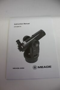 Genuine BRAND NEW Meade ETX-80AT-TC Instruction Manual Telescope HARD TO FIND