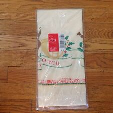 Vintage Christmas Hallmark Tablecloth paper Musical Theme Instruments Harp Nip