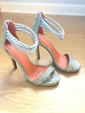 Via Spiga Penelope Silver Dressy Sandals Size 6