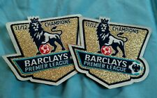 Barclay's Premier League 11/12 Champions Iron On Patch Set Of Two (2)