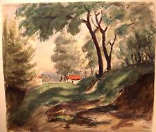 ANDRE MALTERRE (1889_1975)aquarelle-Paris-ZONE SOUVENIR-1933 - 42 CM PAR 37 CM
