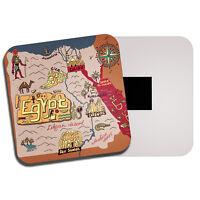 Egypt Map Fridge Magnet - Travel Egyptian Giza Cairo Pyramids Camel Gift #19430