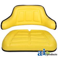 2 PIECE YELLOW SEAT CUSHION SET JOHN DEERE F910,F911,F912,F915,F925,F930,F935#EN