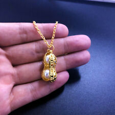 Necklace Jewelry Real Natural Freshwater pearls Peanut Pendant Necklace Gold