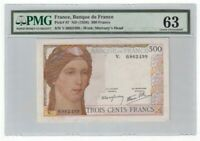 France 300 Francs Banknote 1938 Pick# 87 PMG Choice UNC 63 Vintage