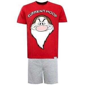 Mens Disney Grumpy Pyjamas   Mens Disney Shot Pyjama Set   Mens Grumpy PJs