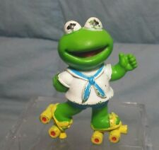 "Baby Kermit PVC Figure Cake Topper Roller Skates Muppet Babies 2.5"""