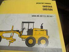 Volvo G60 G66 G80 G86 Motor Graders Operators Manual