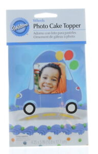 """Happy Birthday Car Photo Cake Topper Wilton Great For New Drivers 4.25"""" x 5"""""""