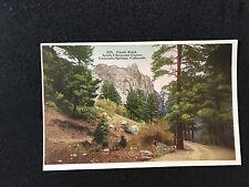Colorado Springs, CO Castle Rock South Cheyenne Canon postcard 5235