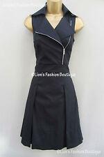Knee Length Cotton Blend Patternless Shirt Dresses