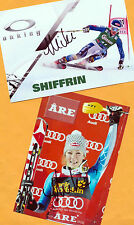 Mikaela shiffrin - 2 top autógrafo-imágenes (1) - Print copies + ski ak firmado
