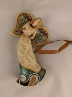 """Angel Christmas Ornament 5"""" Resin Let Heaven and Nature Sing"""