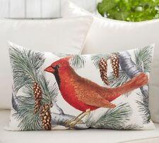 POTTERY BARN  WINTER FAUNA CARDINAL Red Bird PILLOW NEW