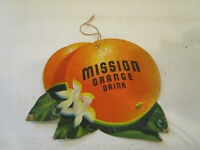 MISSION ORANGE SODA Light Fan PULL Advertising Sign Original  Double-sided Sign