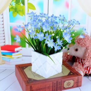 New Bouquet Home Decoration Artificial Orchid Grass Potted Plant Flowers 7 Forks