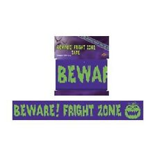 "**HALLOWEEN**    Pack of 1 - ""Beware! Fright Zone"" Tape (6m)!"