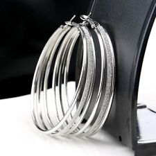 Large Circle Earrings Multi-layer Matte Frosted Hoop Earrings for Women