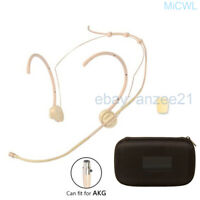 Foldable Head Mic Microphone for AKG 3Pin XLR mini with case