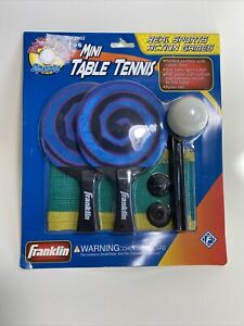 Vintage—Franklin Mini Ping Pong Table Tennis, Complete Set