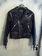 VINTAGE 70'S FRINGED LEATHERS GOLD PERFECTO MOTORCYCLE JACKET 40""