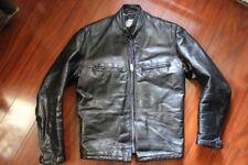 vtg 60's Mod Cafe Racer Leather Motorcyle Jacket 36 Schott/Brooks Style Talon