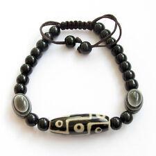 9Eyes Heaven Eye Bead Dzi Tibet Agate Gem Buddhist Prayer Beads Mala Bracelet