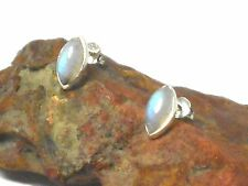 MOONSTONE   Sterling  Silver  925  Gemstone  Earrings  / STUDS  -  5 x 10 mm