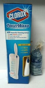 Clorox Toilet Wand Handle Disposable Toilet Cleaning Kit-Caddy,  Wand & Refills