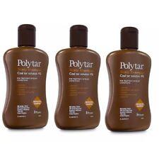 Shampoo psoriasis eccema polytar Cuero cabelludo Caspa picor de alquitrán de hulla 4% - 150ml X 3