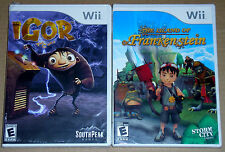 Nintendo Wii Game Lot - Igor (New) The Island of Dr. Frankenstein (New)