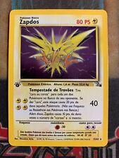 Pokemon Zapdos 15/62 Fossil Holo 1st Edition SPANISH! LP